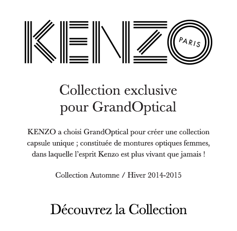 Collection exclusive Kenzo pour GrandOptical.